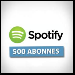 Accueil 500 followers spotify