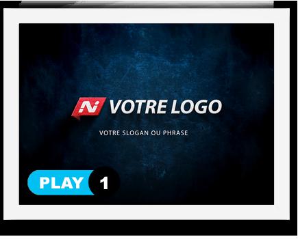 exemple 1 vidéo de présentation Création intro vidéo logo v1