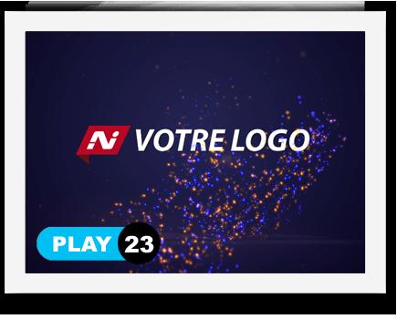 exemple 23 vidéo de présentation Création intro vidéo logo v23